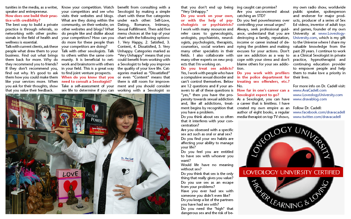 LAFTtheMagazine.com When I Grow Up I Want to be a Sexologist Sept Issue - Part 2