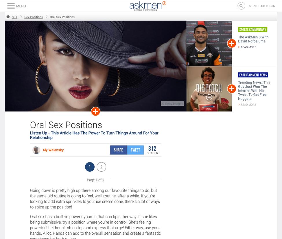 Oral sex website